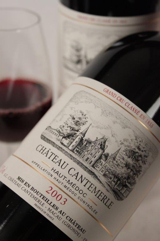 Chateau Cantemerle 2003 Bordeaux red wine
