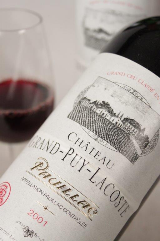 Chateau Grand Puy Lacoste 2001 Bordeaux red wine