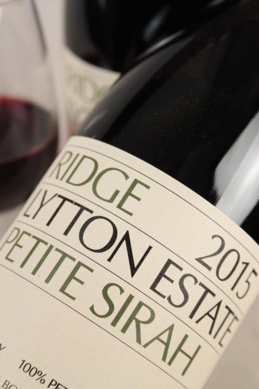 Ridge Lytton Estate Petite Sirah 2015