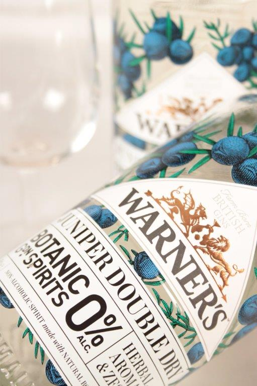 Warners Juniper Double Dry Non Alcoholic Spirit